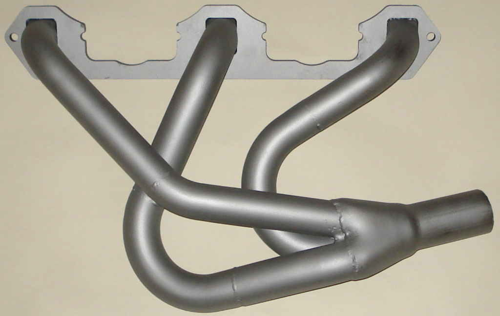 MG ZA ZB Magnette Black Header-Freeflows-exhaust manifolds with silver painted finish