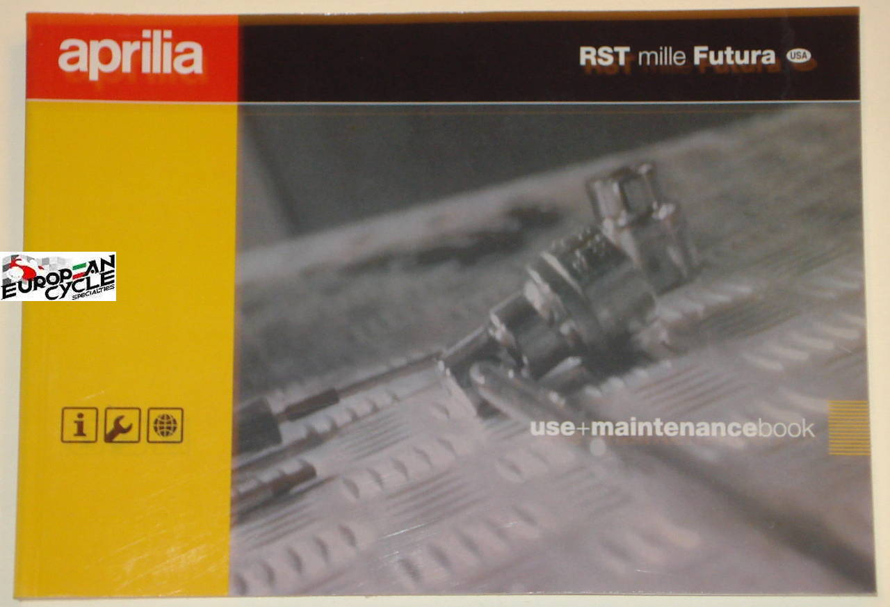 European Cycle Specialties Shopping Cart Aprilia Falco Wiring New Oem Rst 1000 Millie Futura Use And Maintance Manual Owners In English With Digaram 2003 Usa Ap8104430 Click For Larger Image