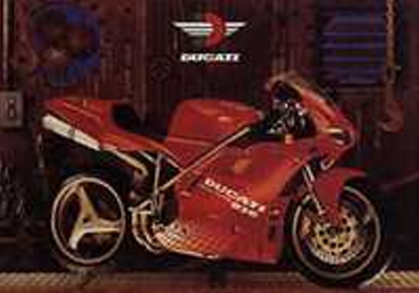 Ducati 916 in Warehouse Color Poster 748 996 998