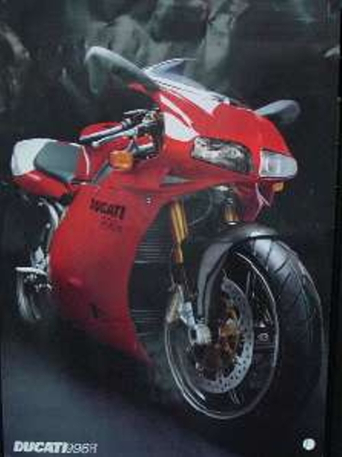 ECS Ducati 996R 2 sided poster