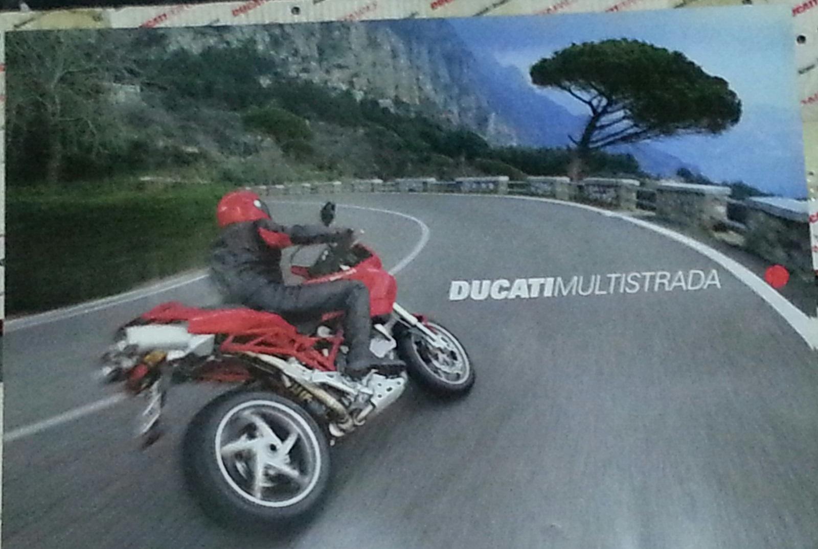 OEM Ducati Red Multistrada Poster