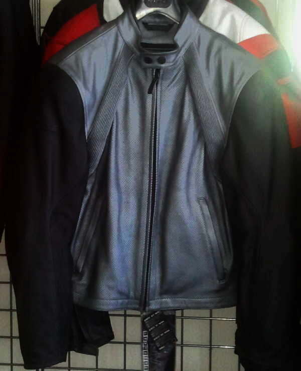 Dainese FREE leather Motorcycle Jacket, black & silver