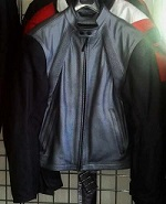 Dainese FREE leather Motorcycle jacket Silver & black