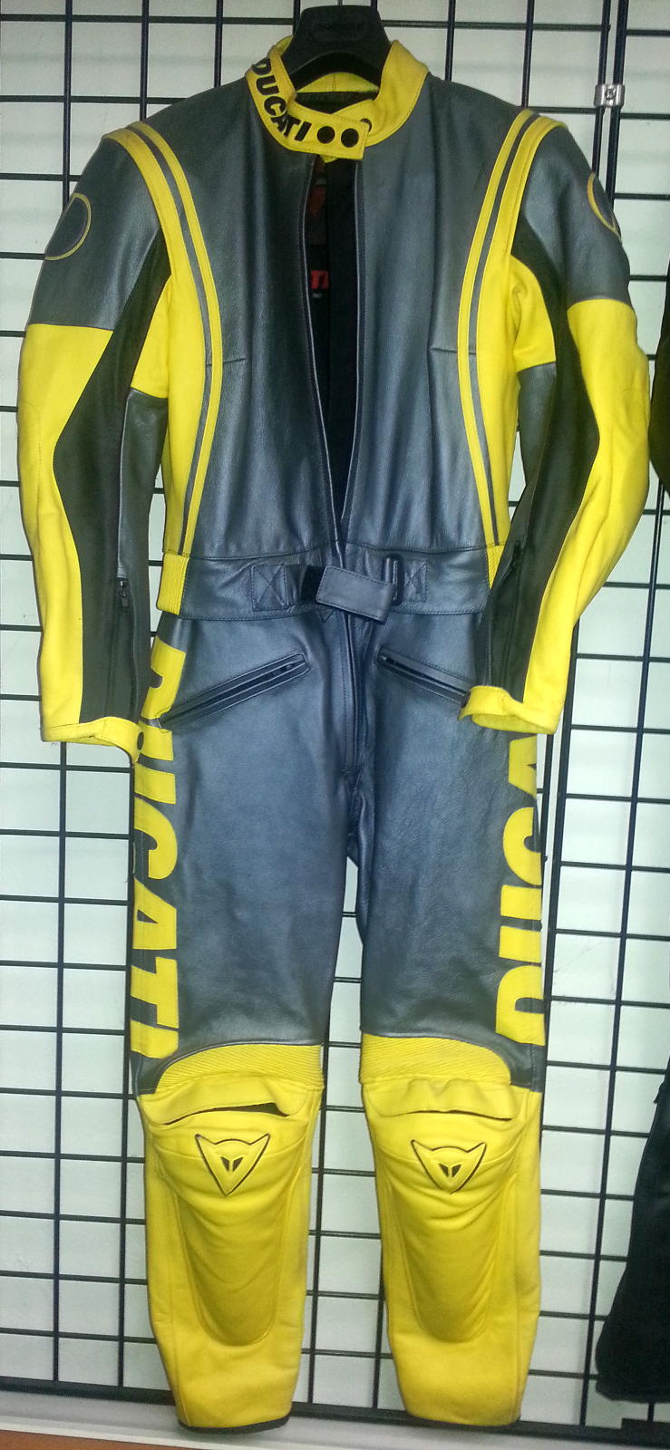 Ducati Dainese Luce Lady 2 piece leather suit yellow & silver