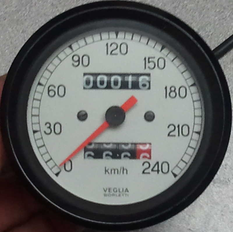Ducati White faced 240 KM/H Speeometer