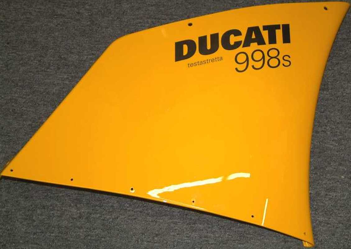 Ducati Superbike 998S OEM Yellow Upper Right Side Fairing