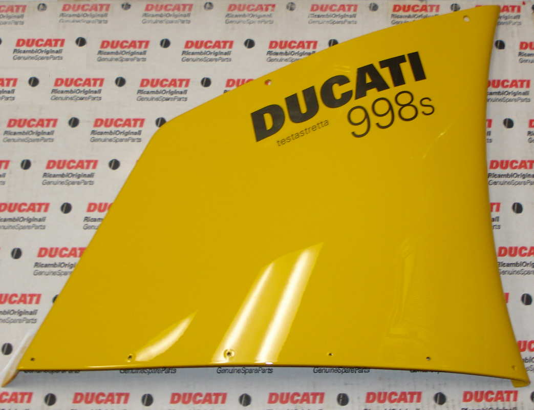 OEM Ducati 998S Superbike Yellow Upper Right Side Fairing