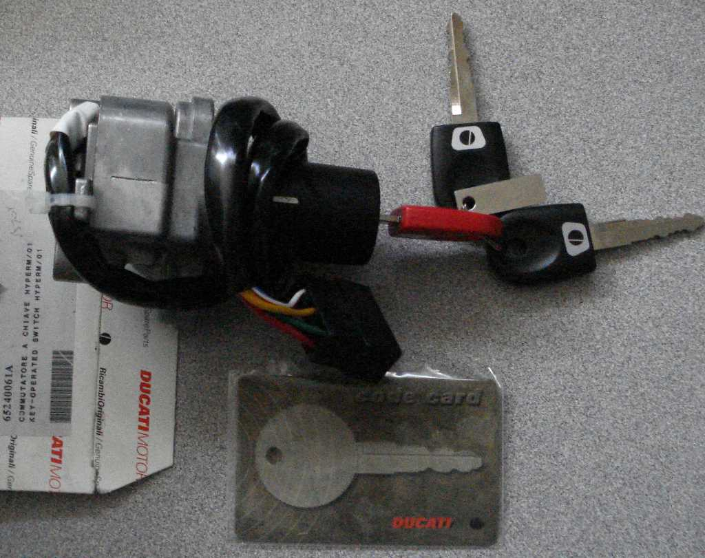Ducati Ignition Lock/with 3 keys & card