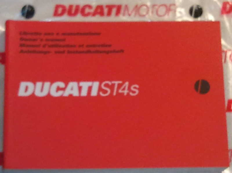 OEM 2001 Ducati ST4S Owners Manual