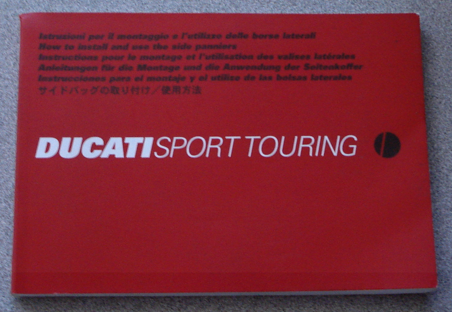 Ducati ST Saddle Bag manual