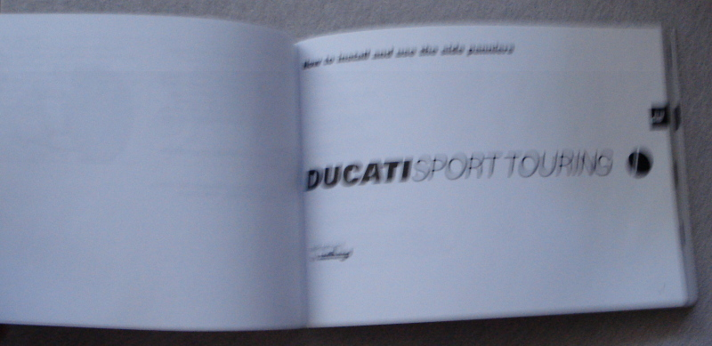Ducati ST Saddle Bag instalation manual