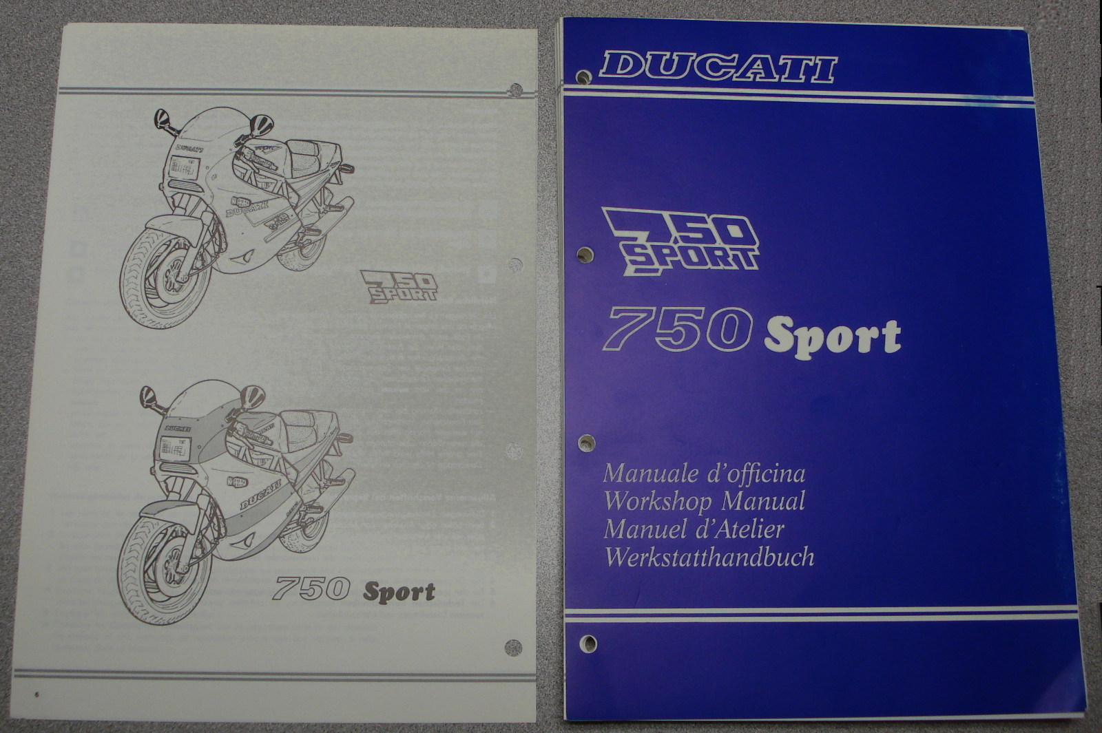 Ducati 750 Sport Workshop Manual