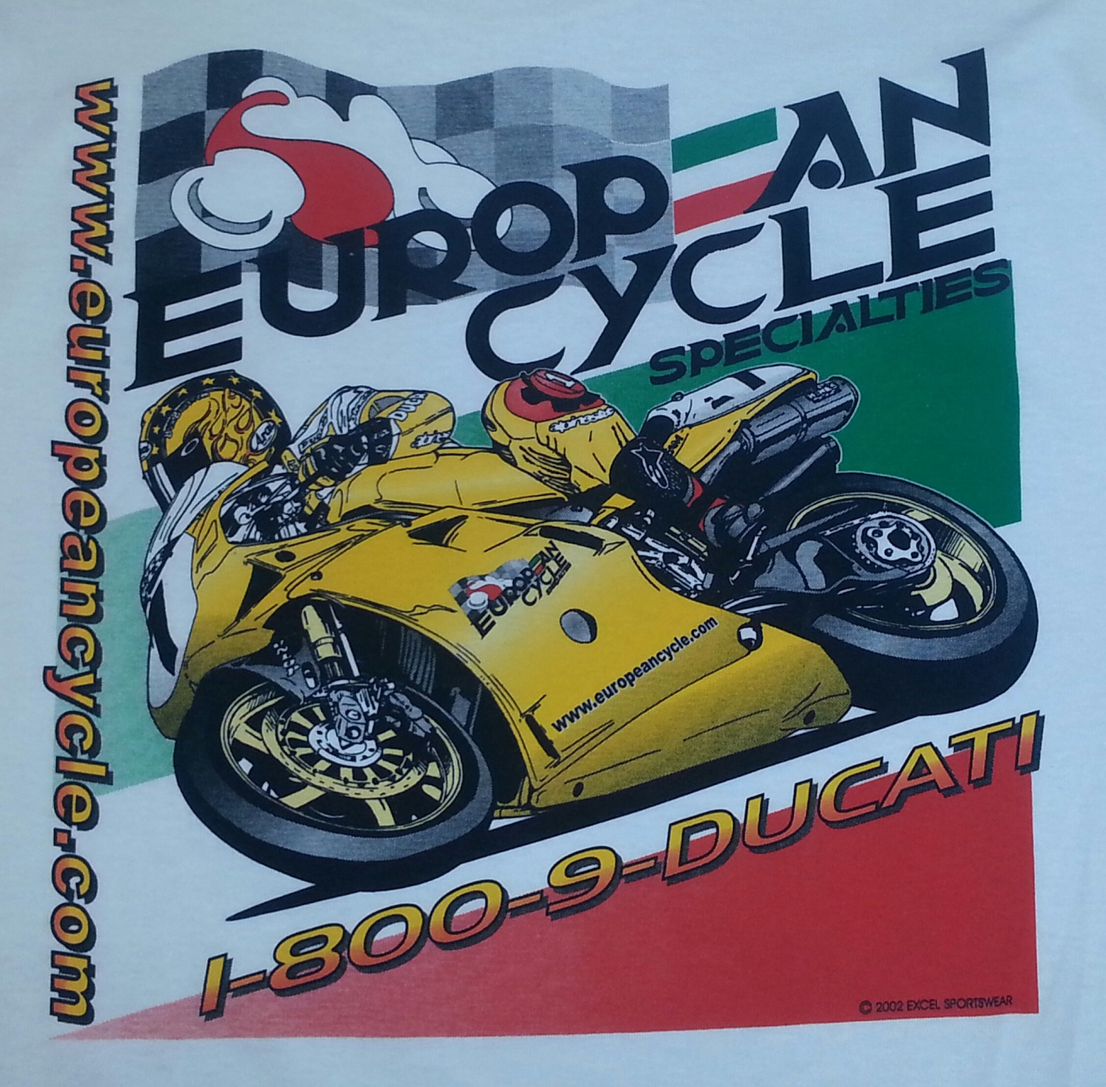 Ducati 996 Fuse Box European Cycle Specialties Shopping Cart Ecs Yellow 748 T Shirt